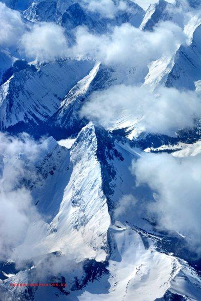 Snowy mountains Canada