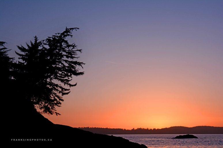 Ocean sunset Canada Pacific