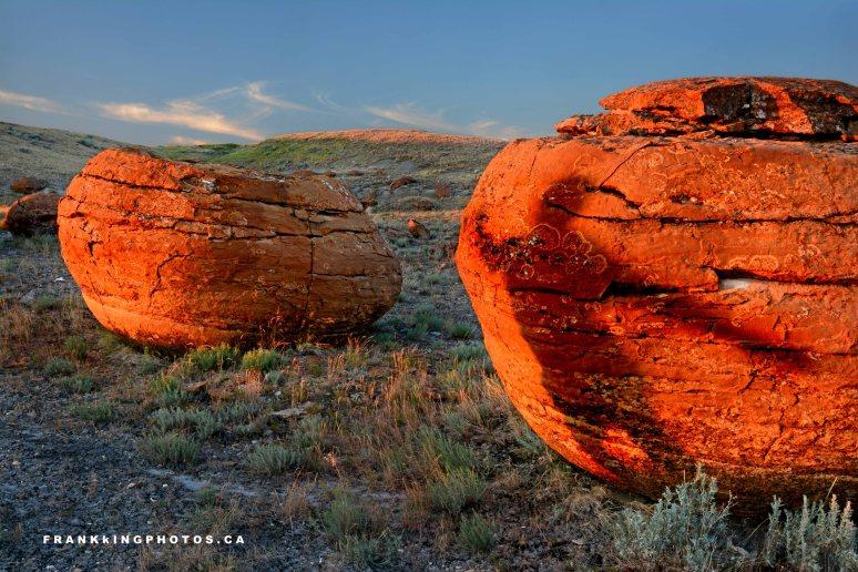 Alberta boulders prairies summer