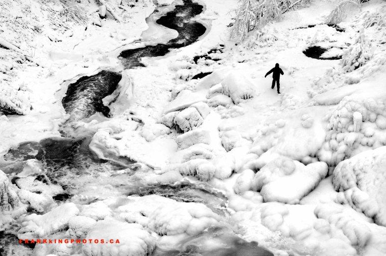 winter Canada Hamilton Webster's Falls