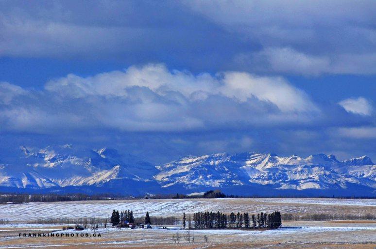 Canada winter prairies mountains