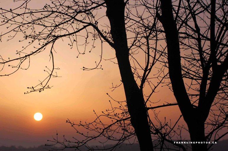 Spring sunrise Canada Presquile