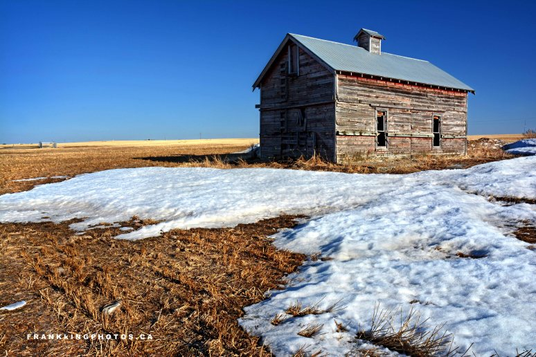 snow spring Alberta prairies Canada