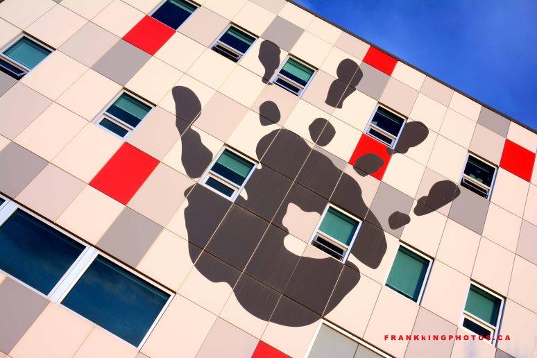 University of Calgary, hand, building, architecture