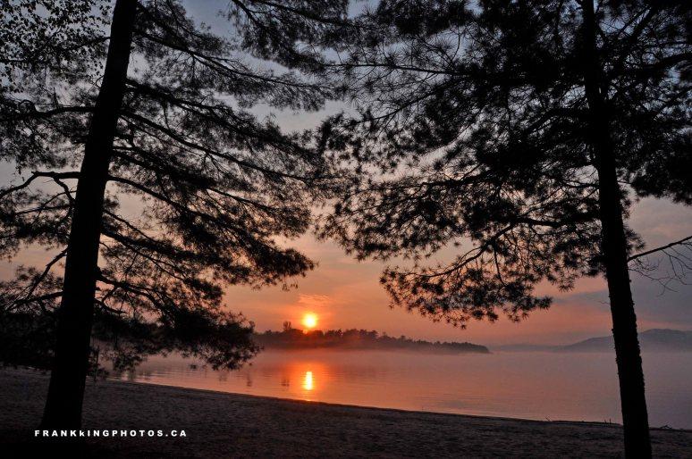 Ottawa River, sunset, Canada