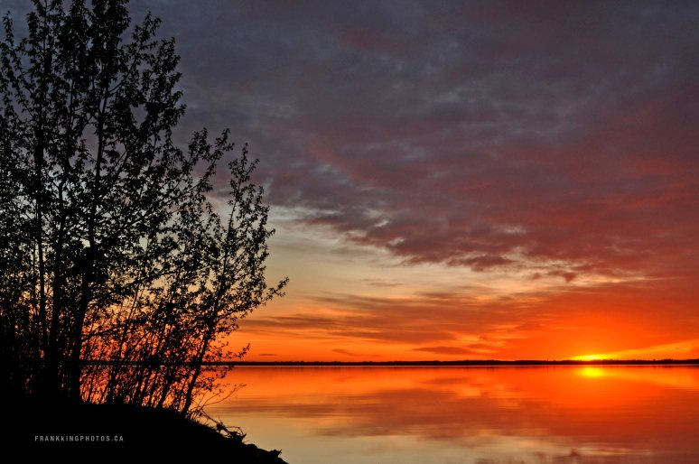 Gull Lake sunrise Alberta Canada