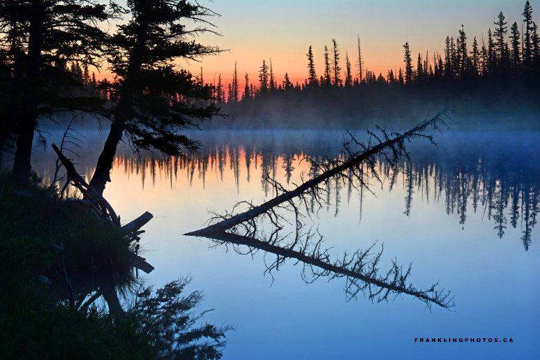 River sunrise Canada Alberta