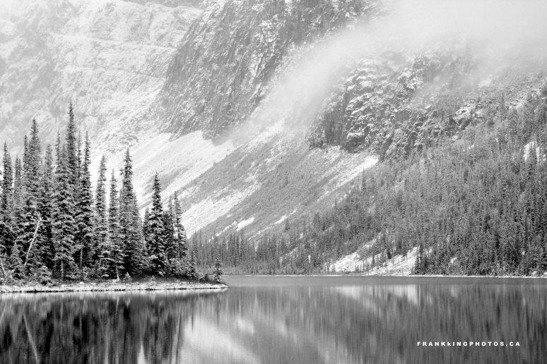 Lake snow Canada Rockies