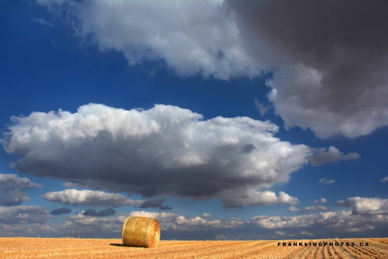 Canadian prairies sky clouds
