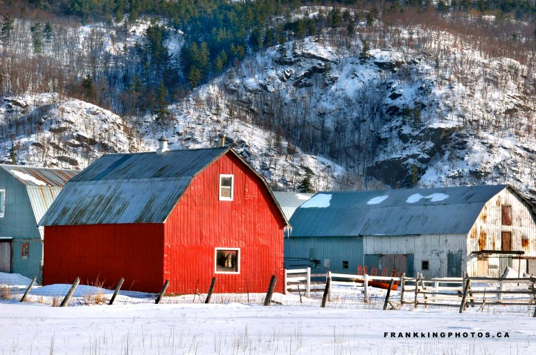 Barn red Canada winter