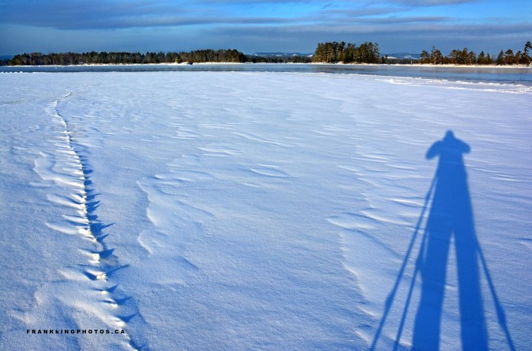 winter river shadow Canada Petawawa