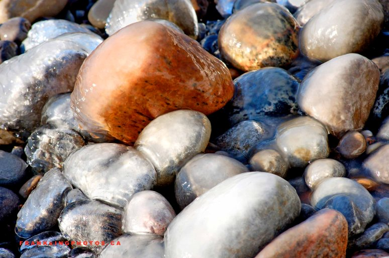 ice rocks shoreline Canada Whitby