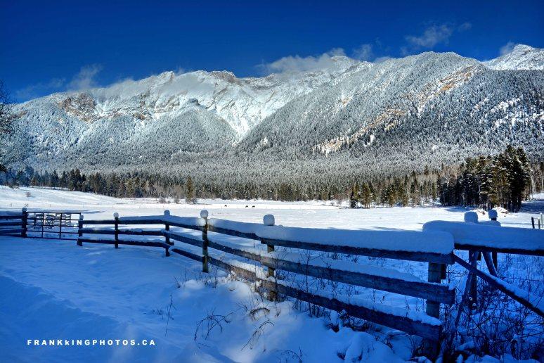 Radium mountain, snowy mountain, winter