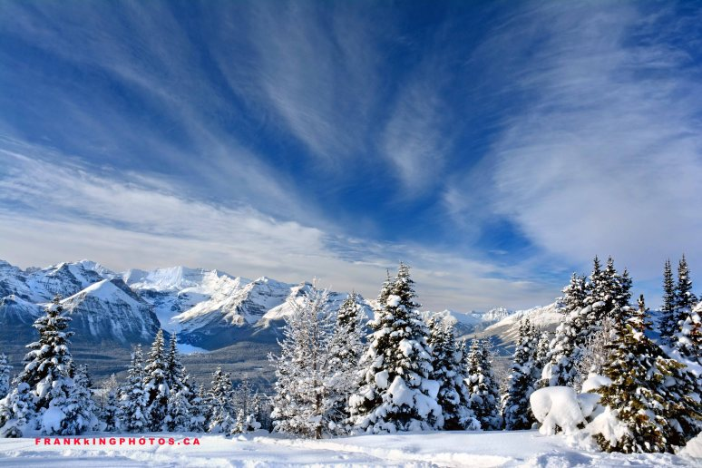 Canada mountains winter Banff Rockies