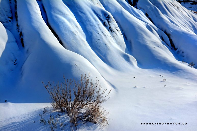 badlands canada snow winter