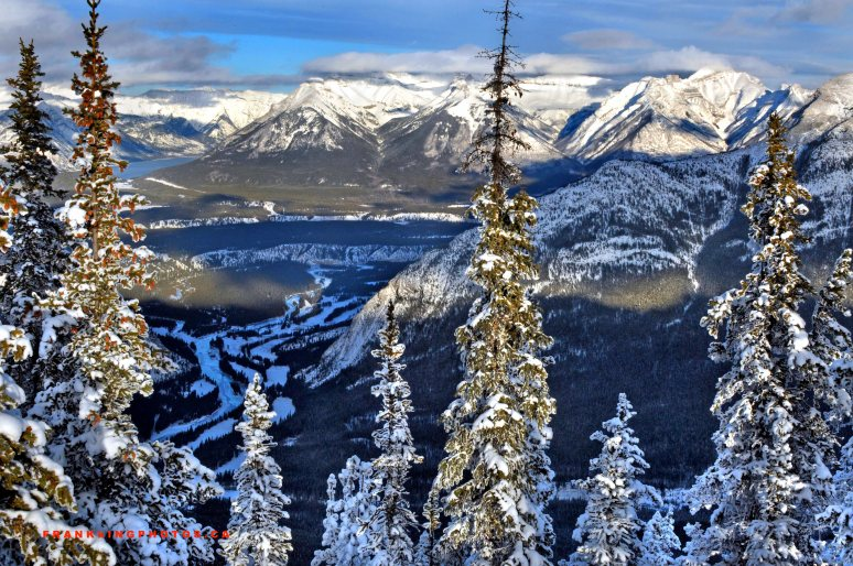 Rockies winter snow Canada mountains